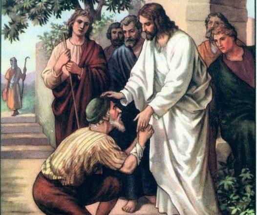 Jesús cura al leproso