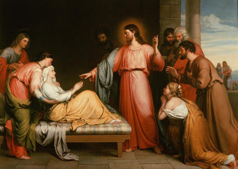 Jesús curando a la suegra de Pedro